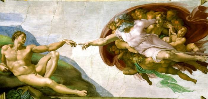"""""""Creación de Adám"""" von Michelangelo - Diese Datei ist gemeinfrei"""